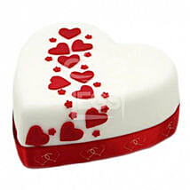 Hearts And Stars Cake: Send Cakes Oxford