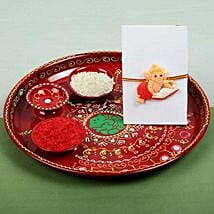 Kids Ganesh Rakhi and PujaThali: Rakhi to Edinburgh