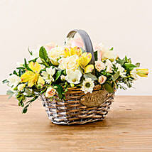 Luxurious Basket: Sympathy & Funeral Flowers to UK