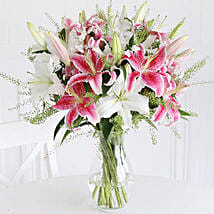 Mixed Lilies: Diwali Flowers to UK