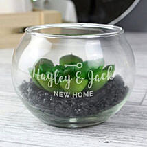 Personalised New Home Glass Terrarium: Personalised Gifts UK