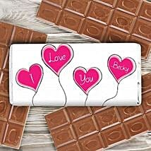 Personalized Heart Balloons Milk Chocolate: Valentine Chocolates in UK