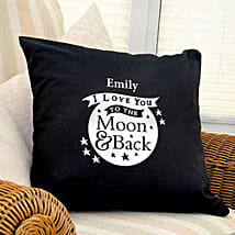 Personalized Love Dovey Cushion Coverblack: Send Gifts to Wolverhampton
