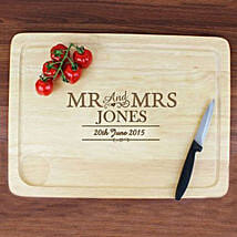 Personalized Mr And Mrs Meat Carving Board: Personalised Anniversary Gifts to UK