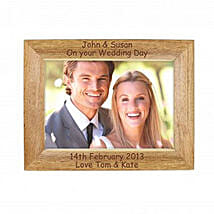 Personalized Walnut Wood Photo Frame: Gifts for Anniversary in UK