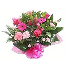 Pink Roses and Carnations: Congrats Flowers to UK