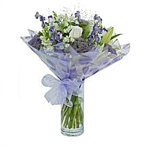 Purple Haze Arrangement: Sympathy & Funeral Flowers to UK