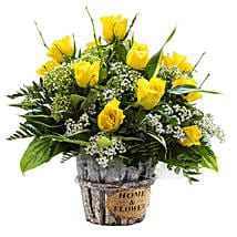 Sunshine Radiance: Mother's Day Flower Delivery in UK