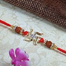 Swastik with Rduraksh Rakhi: Send Rakhi to Edinburgh