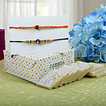 Sweet Kaju Katli Rakhi Hampers: Rakhi to Edinburgh