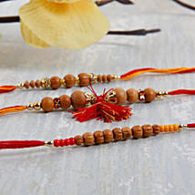 Three Sandalwood rakhi set: