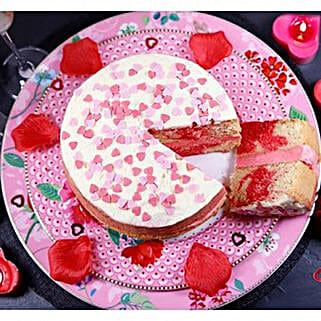 Valentines Strawberry Swirl Cake: Cake Delivery UK