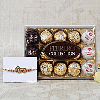 Veera Rakhi with Ferrero Rocher Collection: Rakhi With Chocolates UK