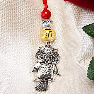 Trendy Owl Lumba Rakhi: Send Rakhi to Ukraine