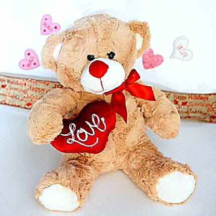 Love Message Brown Teddy