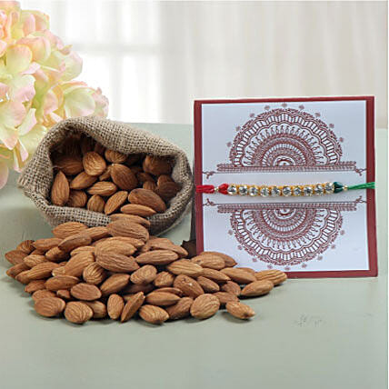 Rakhi with 100gms Almonds