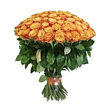 100 Long Stem Orange Roses: Flowers to Phoenix