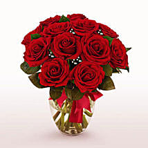 12 Long Stem Red Roses: Send Valentine Gifts to Chicago