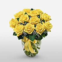 12 Long Stem Yellow Roses: Gifts for Mothers Day