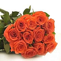 12 Orange Roses: Send Flowers to Irving
