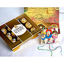 12 PCS Ferrero Rocher with 3 Rakhis: Send Rakhi to San Francisco