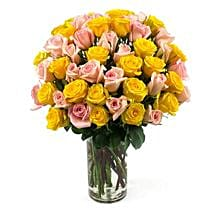 50 Long Stem Assorted Roses: Send Flowers to Detroit