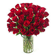 50 Long Stem Red Roses: Birthday Gifts to Omaha