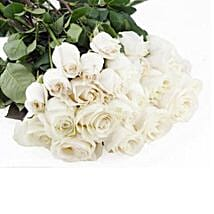 50 Long Stem White Roses: Same Day Flower Bouquet Delivery in USA