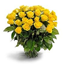 50 Long Stem Yellow Roses: Send Flowers to Irving