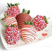 6 Choco Covered Strawberries: Send Birthday Gifts to Arlington
