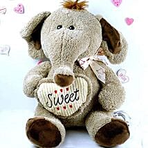 Adorable Elephant Soft Toy: Valentine's Day Gift Delivery Chicago