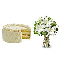 All White: Send Flowers & Cakes to Jersey