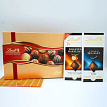 Assorted Lindt Chocolates Basket: Send Gifts to Manchester, USA