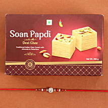Beads Rakhi And Soan Papdi Combo: Rakhi and Sweets to USA
