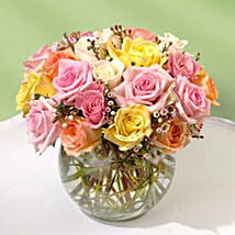 Beautiful Bowl of Roses: Valentine's Day Flowers to USA