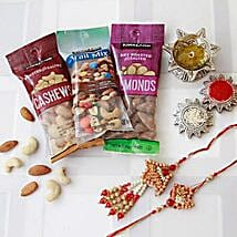 Bhaiya Bhaiya Rakhi with Dry Fruits: Rakhi to Washington