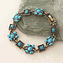 Blue Beads Antique Bracelet: Valentine Gifts to Stamford