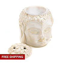 Buddha Head Serenity Oil Warmer: Send Anniversary Gifts to USA