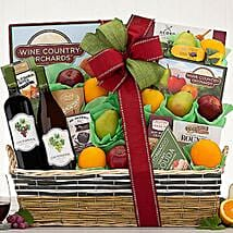 Callister Cellars Wine and Fruit Collection Gift Basket: Wine Hampers to USA