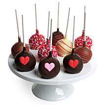 Chocolate Covered Cake Pops: Valentine's Day Gift Delivery in USA