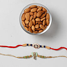 Crunchy Almonds With Colorful Rakhis:
