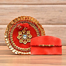 Decorative Rakhi With Puja Thali: Rakhi to Washington