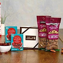 Delightful Choco Dry fruits Hamper: Dried Fruit Gift Baskets to USA