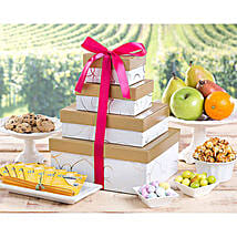 Deluxe Fruit and Sweets Tower: Thanks Giving Day Gifts to USA