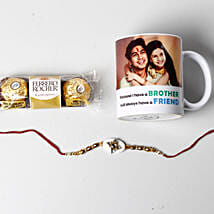 Designer Rakhi And Personalized Photo Mug: Rakhi to Irving