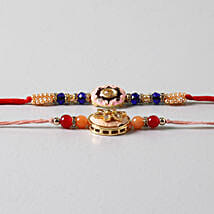 Embellished Beads Rakhis Set Of 2: Rakhi to Tempe
