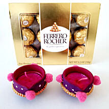 Ferrero Rocher & Designer Diyas Combo: Send Diwali Gifts to Seattle