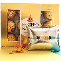 Ferrero Rocher With Designer Rakhi: Send Rakhi to Fremont