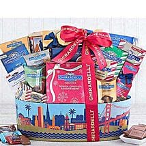 Ghirardelli San Francisco Chocolate Basket: Thanks Giving Day Gifts to USA
