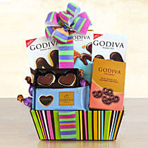 Godiva Galore Gift Basket: Birthday Combos to USA